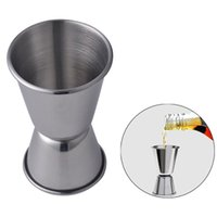 Wholesale cup dispenser resale online - Stainless Steel Double Shot Cocktail Wine Thicken Drink Cups Bar Cocktail Measure Cup Dispenser Stainless Steel Party Measure Cup VT1141