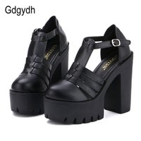 Wholesale china new casual shoes resale online - Hot Selling New Summer Fashion High Platform Sandals Women Casual Ladies Shoes China Black White Size EURO