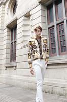ouro italiano para homens venda por atacado-2019 Marca New Italian moda clássica de luxo dos homens Camisas de Vestido de Moda Harajuku Casual Camisa Homens de Luxo Medusa Black Gold Fantasia 3D de Impressão S
