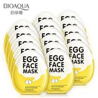 parlaklaştırıcı yüz maskesi toptan satış-BIOAQUA Yumurta Yüz Maskeleri Yağ Kontrolü Aydınlatmak Sarılı Maske Ihale Nemlendirici Yüz Maskesi Cilt Bakımı Nemlendirici Maske