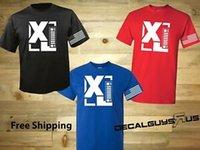 bayrak çıkartmaları toptan satış-Kısa Kol XJ T shirt Amerikan Bayrağı Renk Seçimleri Ücretsiz ABD Kargo Bedava Çıkartması