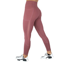 брюки с высокой талией оптовых-Women Sport Leggings Mesh Patchwork Yoga Pants High Waisted Vital Seamless Gym Sportwear Scrunch Butt Work Fitness Tights
