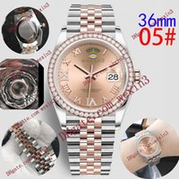 Wholesale ice out watches for sale - Group buy 16 Top Quality Women Fashion Watch Bling Full Diamond Iced Out Watches mm Luxury Designer Automatic Movement Party Wristwatch