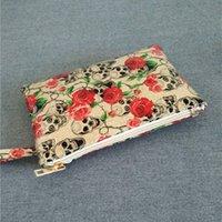 кошелек для кошельков оптовых-Yile Новая мода Lady PU сумки кошелек кошелек сумка цветок черепа