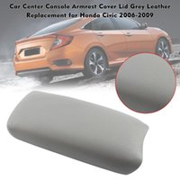 Leather Armrest Center Console Cover Storage Box For Honda Civic 2006-2009 Gray//