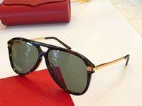 Wholesale minimalist frame resale online - Luxury New designer sunglasses pilot frame top quality high end outdoor uv400 protective eyewear generous minimalist style