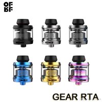 Wholesale electronic insulators for sale - Group buy OFRF Gear RTA Atomizer ml German PEEK Insulator mm Diameter Single Coil Build Deck Easy Wicking Threading Electronic Cigarettes Tank
