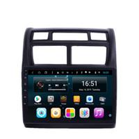 kia sport gps radio android großhandel-HD IPS Android 8.1 Auto PC Auto GPS Multimedia Player Autoradio Tuner für KIA sportage 2004 - 2010