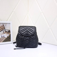 Wholesale real colors resale online - Women s backpack large capacity real leather shoulder bag colors of black white pink and red high quality backpack
