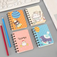 Wholesale cartoon spiral notebook resale online - Journey Diary Office Notebooks Cartoon Animals Spiral Mini Notebook Printed Cute Cat Face Students Notebook Coil Notepad BH1511 TQQ