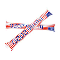 Wholesale inflatable cheer sticks resale online - Trump American Flag Inflatable Sticks Cheerleaders Stick Against Cheering Sticks Noise Maker USA General Election Supplies Free Ship