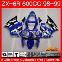 Wholesale ninja 636 black gold for sale - Group buy Fairing For KAWASAKI NINJA ZX CC ZX6R Kit HC ZX636 ZX R ZX R ZX600 CC ZX R Body blue black