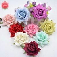 altıgen aksesuarlar toptan satış-Düğün Ev Oda Dekorasyon Evlilik Rosa DIY Ayakkabı Şapka Aksesuarlar Çiçek için 3adet Altıgen Gül Bezi Yapay Çiçek