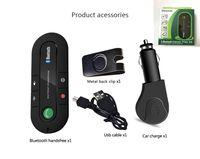 ingrosso vivavoce vivavoce auto bluetooth-Trasmettitore Sun Visor Bluetooth vivavoce giocatore di musica MP3 Bluetooth Car Kit vivavoce ricevitore Bluetooth Speaker Caricatore da auto