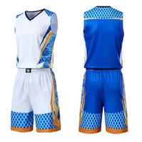roupas esportivas homens venda por atacado-Homens Crianças Basketball Jerseys Terno Uniformes Meninos Colégio Mens Basketball Sport Kit Shirts impressão Shorts Set pano respirável personalizado