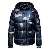 ingrosso giacca invernale della tuta sportiva-Inverno Mens Designer Jacket manica lunga Camouflage O Collo a contrasto Colore Capispalla Uomo Moda maschile Cappotti