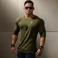 Wholesale mens long sleeve compression shirts resale online - Rashgard Cotton Mens Sport Shirts Quick Dry Running Tshirt Long Sleeve GYM T Shirt Men Fitness Top Workout Compression Shirt