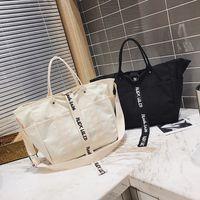 bordado de cuentas chino al por mayor-Hombres de la lona bolsos de las mujeres bolsos de compras bolsa de compras reutilizable de color negro bolsas blancas