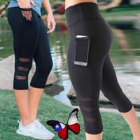 Women Sport Leggings With Pockets High Elastic Workout Fitness Leggings Seamless Breathable Short Running Tights Jogger Legings