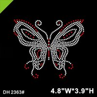 Wholesale motif designs for clothes for sale - Group buy New Design butterfly Hotfix Rhinestone Motif for clothes Rhinestone Transfers DIY DH2363