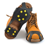 Wholesale anti slip shoes snow ice for sale - Group buy 10 Steel Studs Ice Cleats Anti Skid Snow Ice Climbing Shoe Spikes Grips Crampons Cleats Overshoes Climbing Gripper antislip Shoe CoversC1459