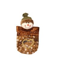 Wholesale gifts chocolate favor resale online - Snowman Hollow Organza Drawstring Bags Jewelry Pouches Wedding Party Candy Chocolate Christmas Favor Gift Bags B