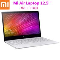 teclado ultra delgado bluetooth al por mayor-Xiaomi Mi Air Laptop 12.5 pulgadas Ultra Thin Windows 10 Intel Core M3 - 8100Y 4GB 128GB Teclado retroiluminado HDMI Cargador portátil rápido