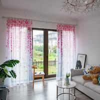 Wholesale bird decor for sale - Group buy New Arrival x250cm Bird Branch Window Curtain Bedroom Living Room Drape Home Hotel Decor