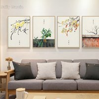 Wholesale chinese abstract art paintings resale online - Original Chinese Wall Art Canvas Painting Kinds Of Festivals Poster And Print Picture For Living Room Aisle Studio Home Decor