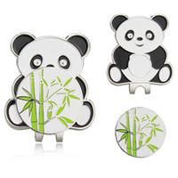 trainingshilfen großhandel-Panda - Magnetischer Hutclip aus Metall mit Golfballmarkierung, Trainingshilfen für Golfmarker