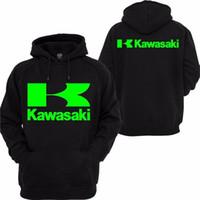 Wholesale kawasaki motorcycle jacket for sale - Group buy 2019 Men s High Quality Men s Kawasaki Race Motorcycle Clothing Knight Pullover Sweatshirt Casual Hoodie black
