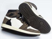 Wholesale best men sneakers resale online - Best Quality High OG Travis Scotts Cactus Jack Suede Dark Mocha TS SP M Basketball Shoes Men Women s Sneakers With Box