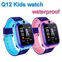 Wholesale best android gps phone online – Best Gift Q12 Kids Smart watch GPS Tracker inch Touch Screen Children Student Phone Watch Waterproof SOS Camera Voice Chat APP control