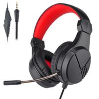 auriculares de alta calidad para pc al por mayor-Nueva llegada de alta calidad Gaming Headset con cable auricular auricular con micrófono para PS4 XBOX ONE Celular ordenador PC INTERRUPTOR NINETENDO