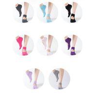 yoga ayak parmağı toptan satış-Yeni 7 Renkler Kaymaz Kadınlar Yoga Spor Çorap Ayak Bileği Kavrama Dayanıklı Renkli Beş Parmak Pamuk Tam Ayak Yoga Çorap ZZA976