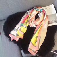 fırça sarın toptan satış-2017 Moda Tasarımcısı Bayanlar Büyük Eşarp ipek Eşarp Kadınlar Marka Sarar Gerçek Çift katlı Kalınlaşmış Fırça Sonbahar Kış Şal atkılar