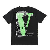 tejido universitario al por mayor-Vlone Camiseta Hombre Mujer Alta Calidad Hip Hop Camiseta Vlone Life Mens Designer T shirt Camisetas Tamaño S-XL