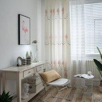 coton d'usine de bambou achat en gros de-Le magasin de mémoire rose vend directement du tissu de rideau brodé en coton et bambou imitation rideau chinois moderne