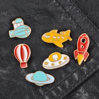 Wholesale middle east decor resale online - Cute Small Funny Plane Enamel Brooches Pins for Women Girl Boy Christmas Demin Shirt Decor Brooch Pin Metal Kawaii Badge Fashion Jewelry