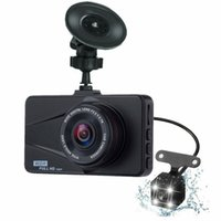 nachtsicht usb versteckte kamera großhandel-Dash Cam Car DVR 3,0-Zoll-Nachtsichtkamera Video versteckt Dual-Lens-Cam Auto Windschutzscheibe DVR USB-Monitor fahren Recorder Bild