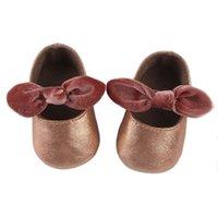 sapatos de borracha para bebês venda por atacado-Sapatos Da Criança do bebê Sola De Borracha Ocasional Não Antiderrapante Sapatos de Bebê Cabeça Redonda Arco Baixo Ajudar Sapatos Da Criança Do Bebê 45