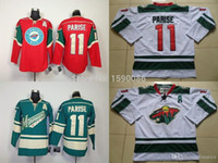 Wholesale authentic hockey jerseys china for sale - Group buy Authentic Cheap Minnesota Wild Jerseys Zach Parise Jersey red White Green Ice Hockey Jerseys China