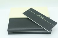 ahşap kasa tasarımı toptan satış-Lüks tasarım Siyah Ahşap çerçeve Kalem Kutusu mb Dolma Kalem / Tükenmez Kalem / Makaralı Tükenmez Kalemler Kalem Vaka Garanti ile Manuel A8
