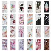 Wholesale y5 phones for sale – best Marble Soft TPU IMD Case For Samsung A60 A50 A20e For Huawei Y5 Natural Granite Stone Rock Luxury Fashion Gel Mobile Phone Skin Cover