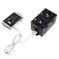 voltmetre testi toptan satış-Güç Ampermetre Voltmetre Watt Saat Pil Kapasitesi Sıcaklık Araba Çok Koruma Testi Meter Electrombile Kablosuz Coulometer