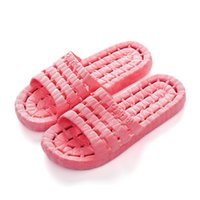 Wholesale accessories slippers online - Soft Sole Shower Room Slipper Water Leakage Non Slip Sandals Bathroom Accessories Take A Shower Four Seasons Lovers rsb1