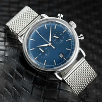 Wholesale silver mesh belts for sale - Group buy All Subdials Work Luxury Watch Blue Silver British Business Casual Watch Men s Quartz Watch Stainless Steel Mesh Belt Slim Stopwatch