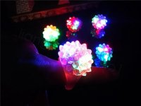 Wholesale jelly glow resale online - Flashing Bubble Ring Rave Party Blinking Soft Jelly Glow Led Light Up party favor kids gift plastic ring FFA3475