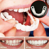 conjunto de cuidados bucais venda por atacado-Snap On Smile Sorriso Perfeito Conforto Fit Dentes Flexíveis Dentadura Branca Dente Capa Para Bad Dente Faciais Oral Care 1 Conjunto ePacket