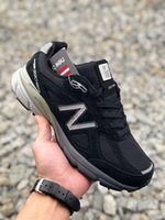 dengeli kadın ayakkabıları toptan satış-New Balance 2019 ABD M990V4 Serisi Amerikan yapımı kan çizgisi, başkanlık koşu ayakkabıları, retro spor koşu ayakkabıları, erkek ve kadın spor ayakkabı